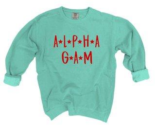 Alpha Gamma Delta Comfort Colors Starry Night Crew