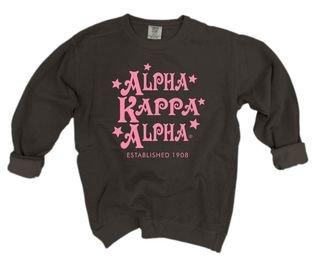 Alpha Kappa Alpha Comfort Colors Old School Custom Crew