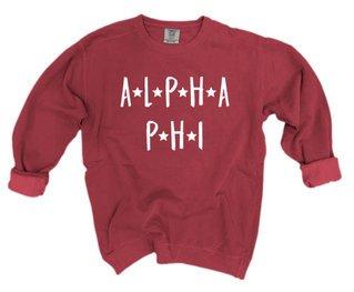 Alpha Phi Comfort Colors Starry Night Crew