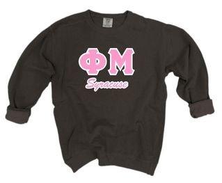 Comfort Colors Custom Lettered Crewneck Sweatshirt