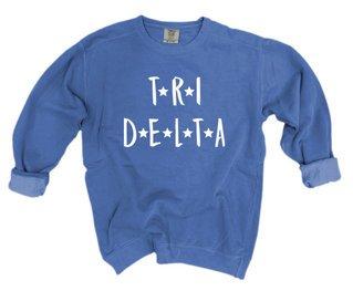 Delta Delta Delta Comfort Colors Starry Night Crew