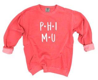 Phi Mu Comfort Colors Starry Night Crew