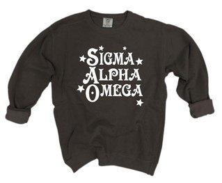 Sigma Alpha Omega Comfort Colors Old School Custom Crew