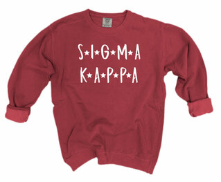 Sigma Kappa Comfort Colors Starry Night Crew