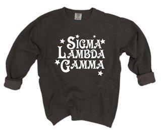 Sigma Lambda Gamma Comfort Colors Old School Custom Crew