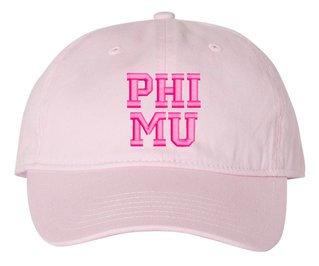 Phi Mu Pigment Dyed Baseball Cap