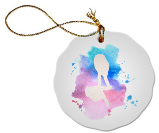 Delta Gamma Hand Sign Porcelain Ornament Snowball