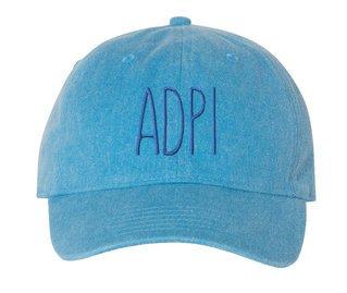 Alpha Delta Pi Mod Pigment Dyed Baseball Cap