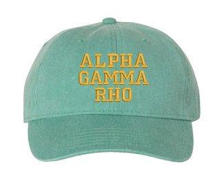 Alpha Gamma Rho Pigment Dyed Baseball Cap