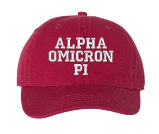 Alpha Omicron Pi Pigment Dyed Baseball Cap