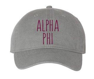 Alpha Phi Mod Pigment Dyed Baseball Cap