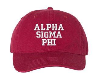 Alpha Sigma Phi Pigment Dyed Baseball Cap
