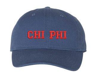 Chi Phi Pigment Dyed Baseball Cap