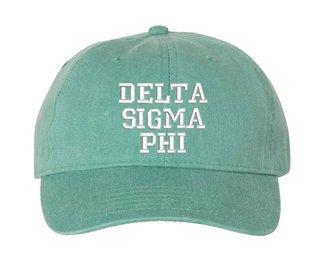 Delta Sigma Phi Pigment Dyed Baseball Cap