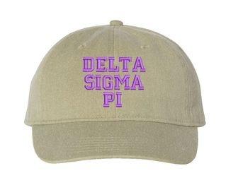 Delta Sigma Pi Pigment Dyed Baseball Cap