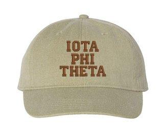 Iota Phi Theta Pigment Dyed Baseball Cap