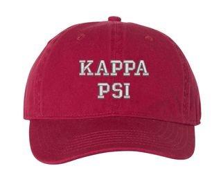 Kappa Psi Pigment Dyed Baseball Cap