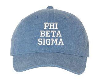 Phi Beta Sigma Pigment Dyed Baseball Cap