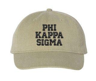 Phi Kappa Sigma Comfort Colors Pigment Dyed Baseball Cap