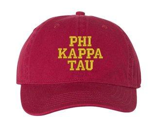 Phi Kappa Tau Comfort Colors Pigment Dyed Baseball Cap