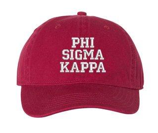 Phi Sigma Kappa Comfort Colors Pigment Dyed Baseball Cap
