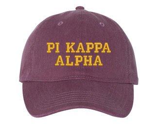 Pi Kappa Alpha Pigment Dyed Baseball Cap