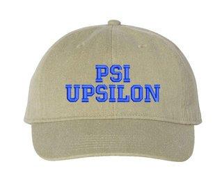 Psi Upsilon Pigment Dyed Baseball Cap