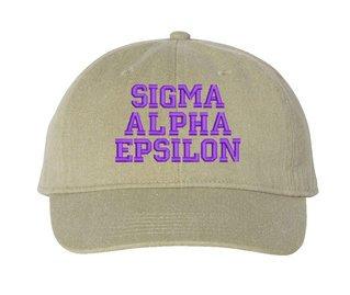 Sigma Alpha Epsilon Pigment Dyed Baseball Cap