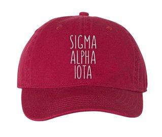 Sigma Alpha Iota Mod Pigment Dyed Baseball Cap