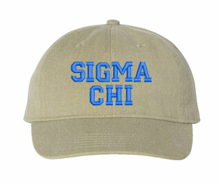 Sigma Chi Comfort Colors Pigment Dyed Baseball Cap