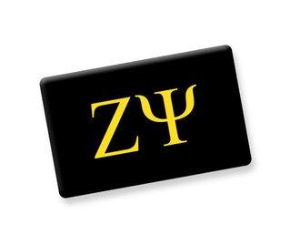 Zeta Psi Ceramic Flag Magnet