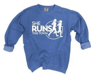 She Runs This Town Comfort Colors Crewneck Sweatshirt