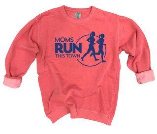 Moms Run This Town Comfort Colors Crewneck Sweatshirt