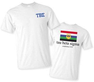 Tau Beta Sigma Flag T-Shirt