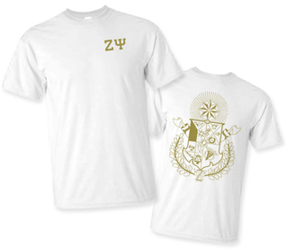 Zeta Psi World Famous Crest - Shield Tee