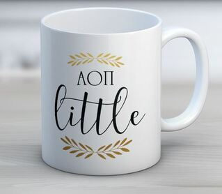 Alpha Omicron Pi Little Coffee Mug