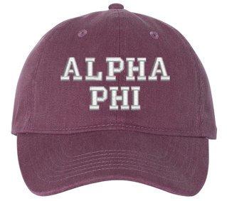 Alpha Phi Pigment Dyed Baseball Cap