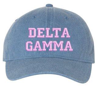 Delta Gamma Comfort Colors Pigment Dyed Baseball Cap
