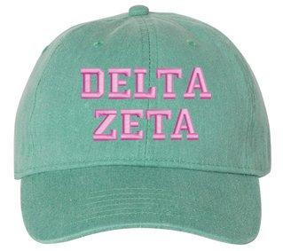 Delta Zeta Pigment Dyed Baseball Cap