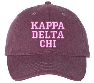 Kappa Delta Chi Comfort Colors Pigment Dyed Baseball Cap