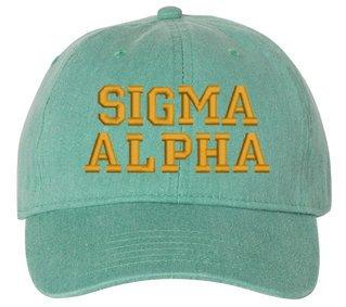 Sigma Alpha Pigment Dyed Baseball Cap