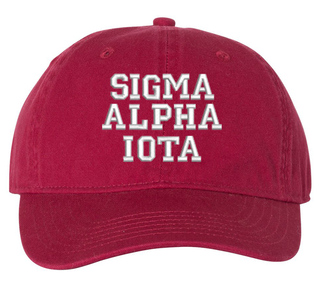 Sigma Alpha Iota Pigment Dyed Baseball Cap