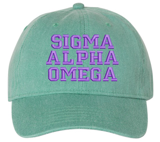 Sigma Alpha Omega Pigment Dyed Baseball Cap