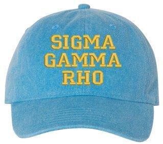 Sigma Gamma Rho Comfort Colors Pigment Dyed Baseball Cap