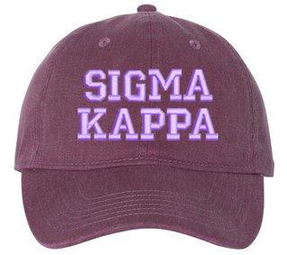 Sigma Kappa Pigment Dyed Baseball Cap