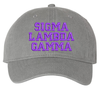 Sigma Lambda Gamma Pigment Dyed Baseball Cap