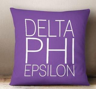 Delta Phi Epsilon Simple Pillow
