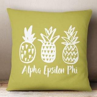 Alpha Epsilon Phi Pineapple Colored Pillow