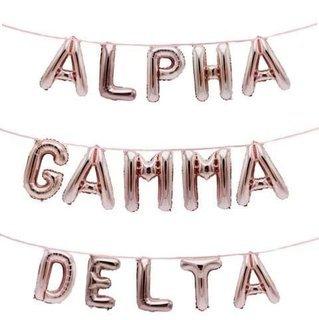 Alpha Gamma Delta Banner Balloon Set