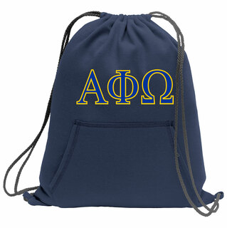 Alpha Phi Omega Fleece Sweatshirt Cinch Pack